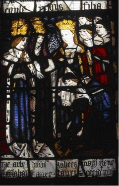 The Conversion of St Helen: south aisle (sVI), church of St Michael and All Saints, Ashton-under-Lyne, Greater Manchester