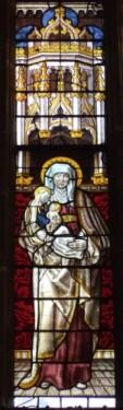 Panel of the Month. 'Anna Selbdritt', Hingham church, Norfolk © J. Allen.
