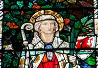 Fig. 1. Newport Roman Catholic Church (Shropshire): St Winifrede, by Margaret Agnes Rope.
