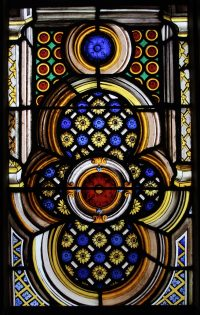 Fig. 7. William Price the younger, the ornamental section at the bottom of each light, the Chapel Window, Burton Constable Hall, 1526-1844. (Image: © Iona Hart.)